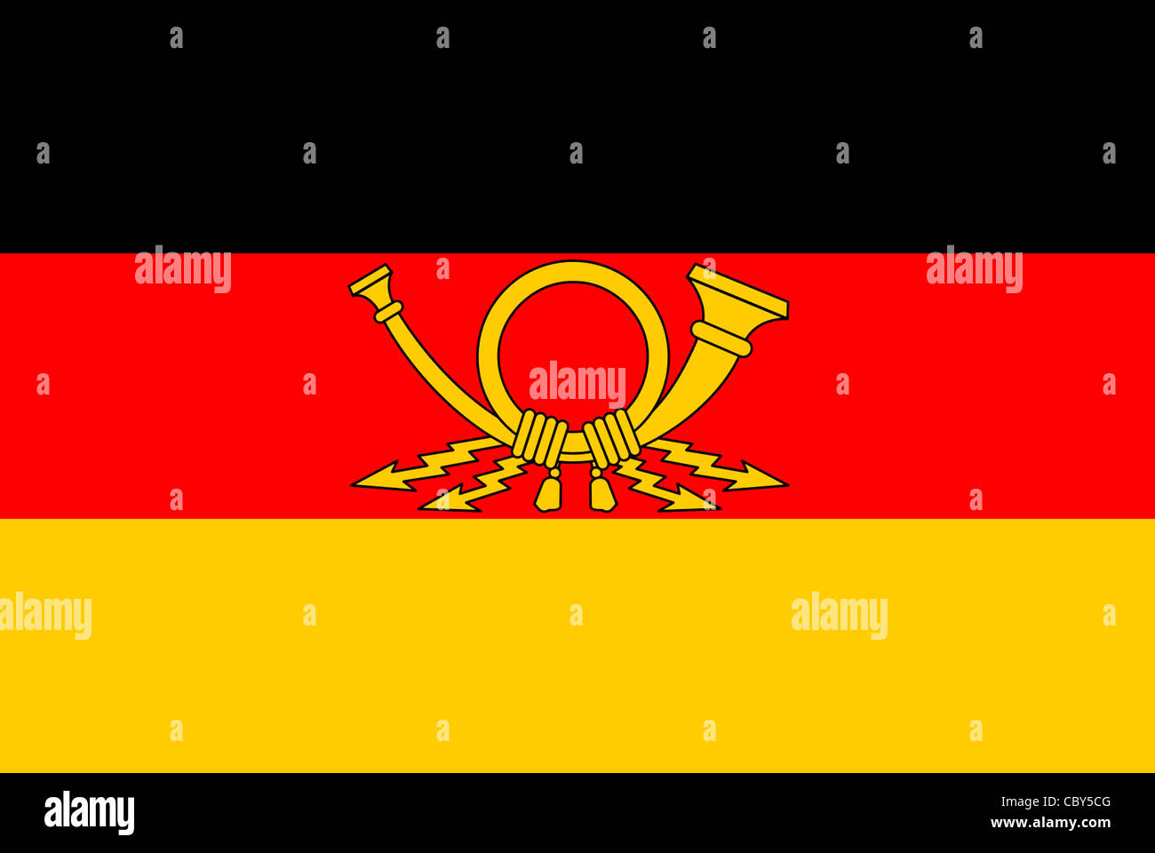 Flag of the Post of the GDR. - Stock Image