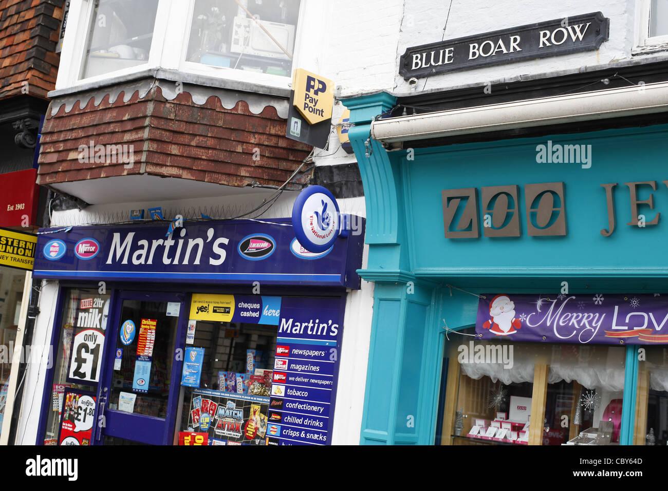 Martin's newsagents Stock Photo