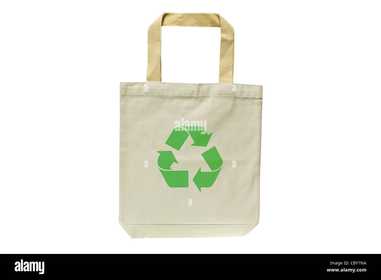 09b4f79b4e Shopping bag made out of recycled materials isolated on white background -  Stock Image