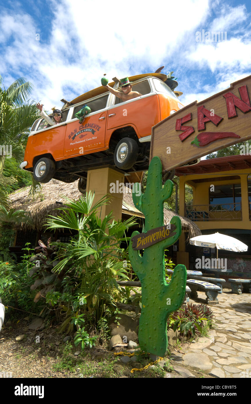 San Clemente Bar and Grill Restaurant Dominical Costa Rica Puntarenas Province Stock Photo