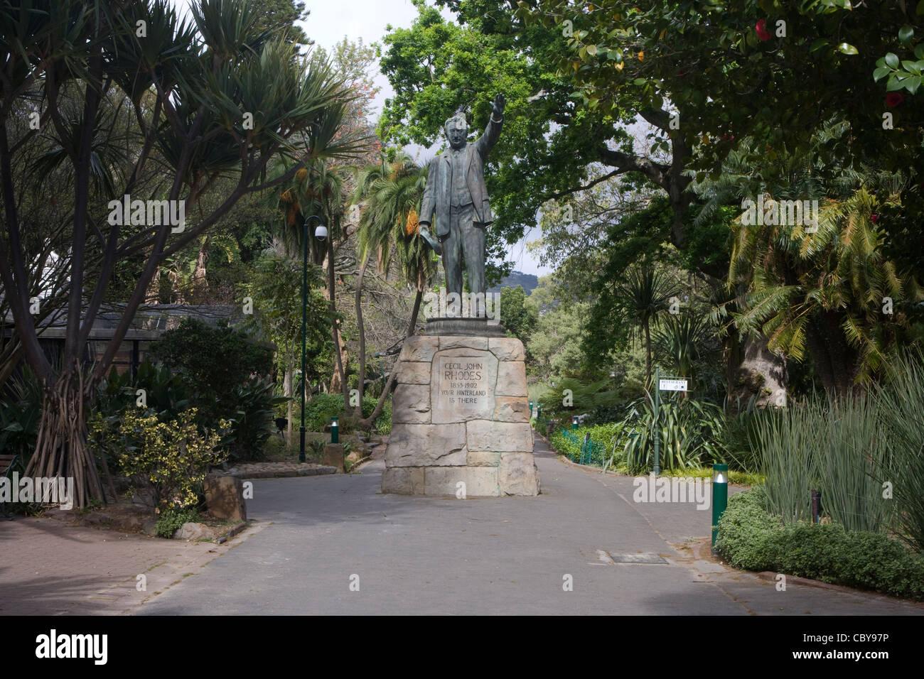 Cape Town: Company's Garden - Cecil Rhodes statue - Stock Image