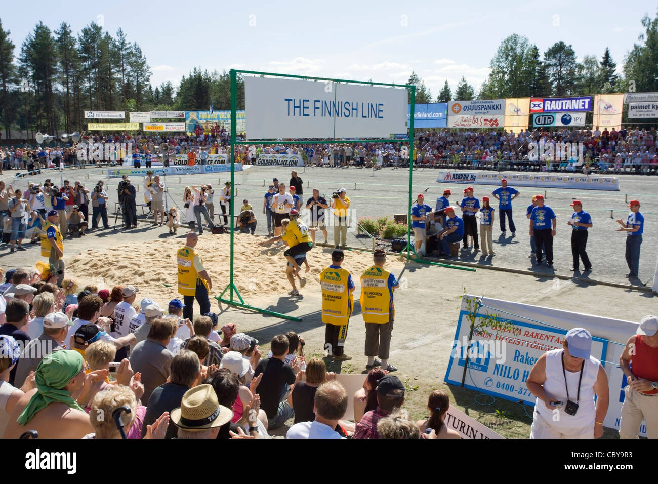 Wife Carrying World Championships at Sonkajärvi, Finland - Stock Image