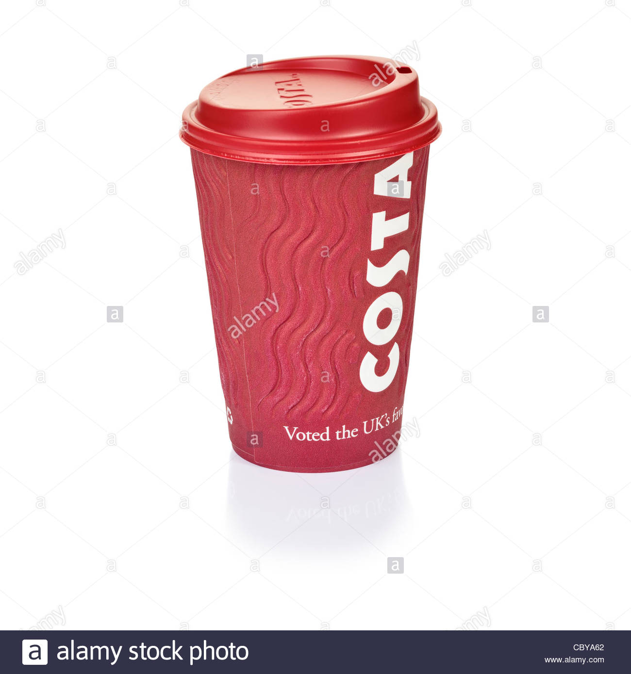 Costa Coffee take out cup - Stock Image