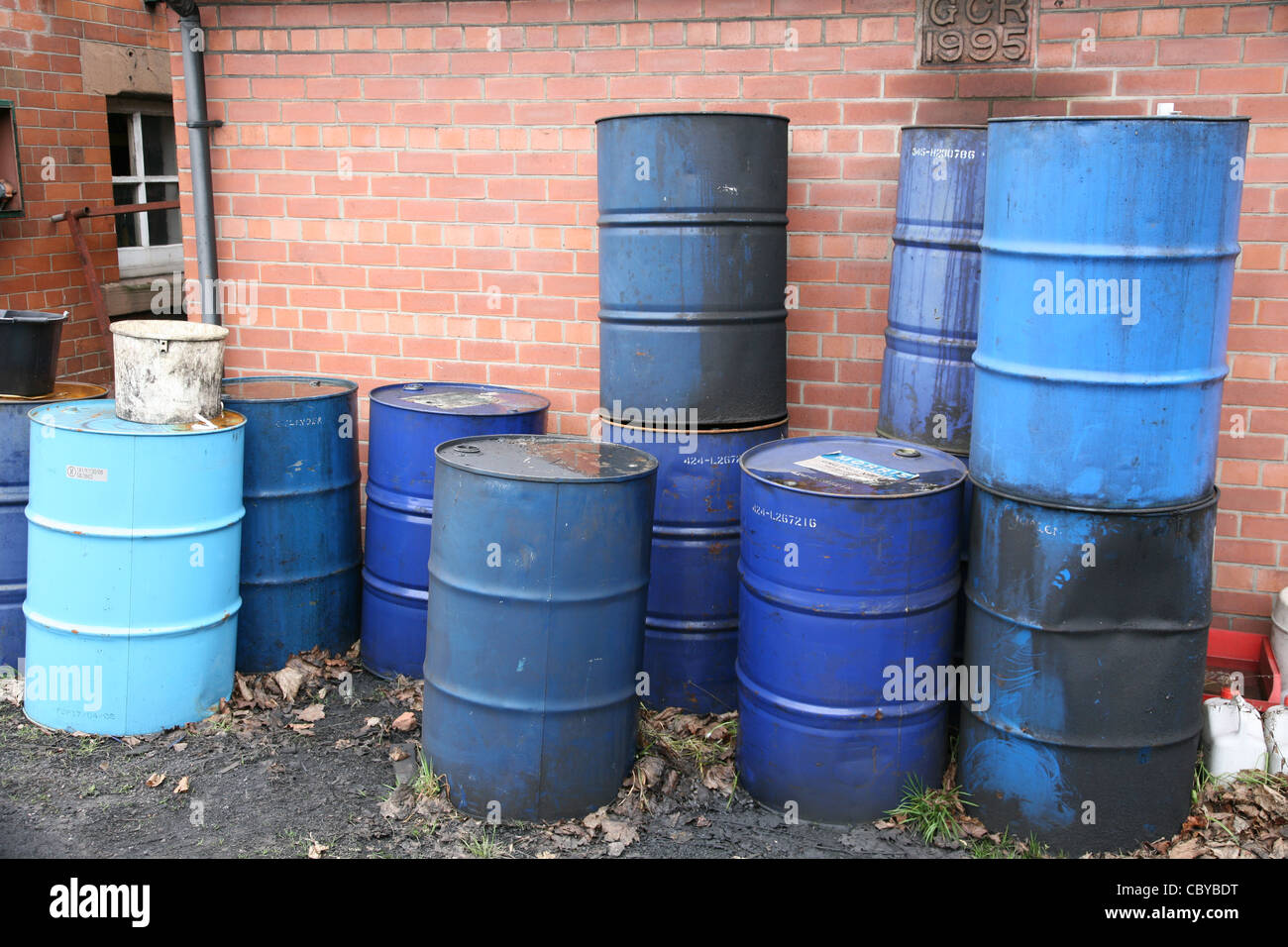 Chemical drums - Stock Image