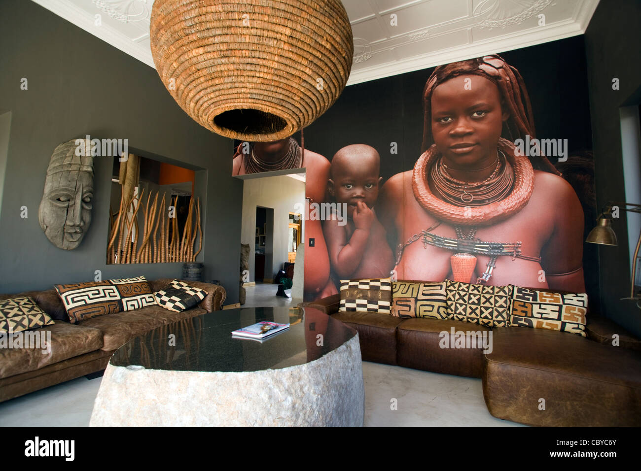 The Olive Boutique Hotel - Windhoek, Namibia - Stock Image