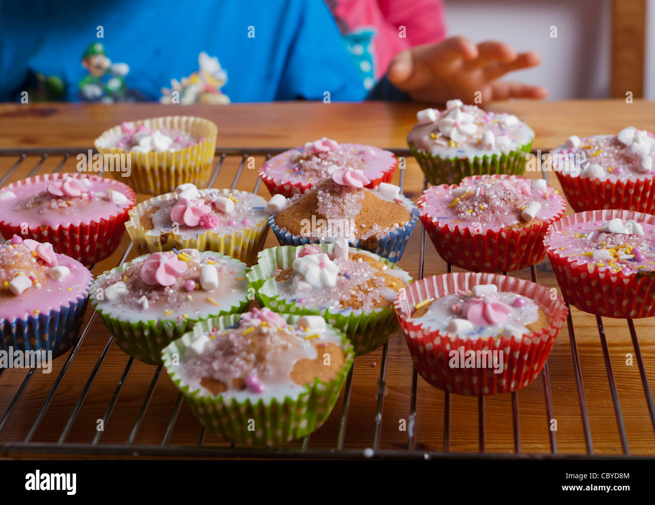 Close-up of cupcakes - Stock Image