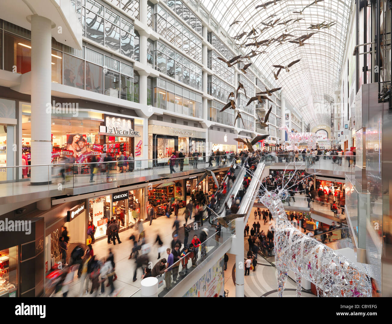 Eaton Centre Largest Shopping Mall In Downtown Toronto