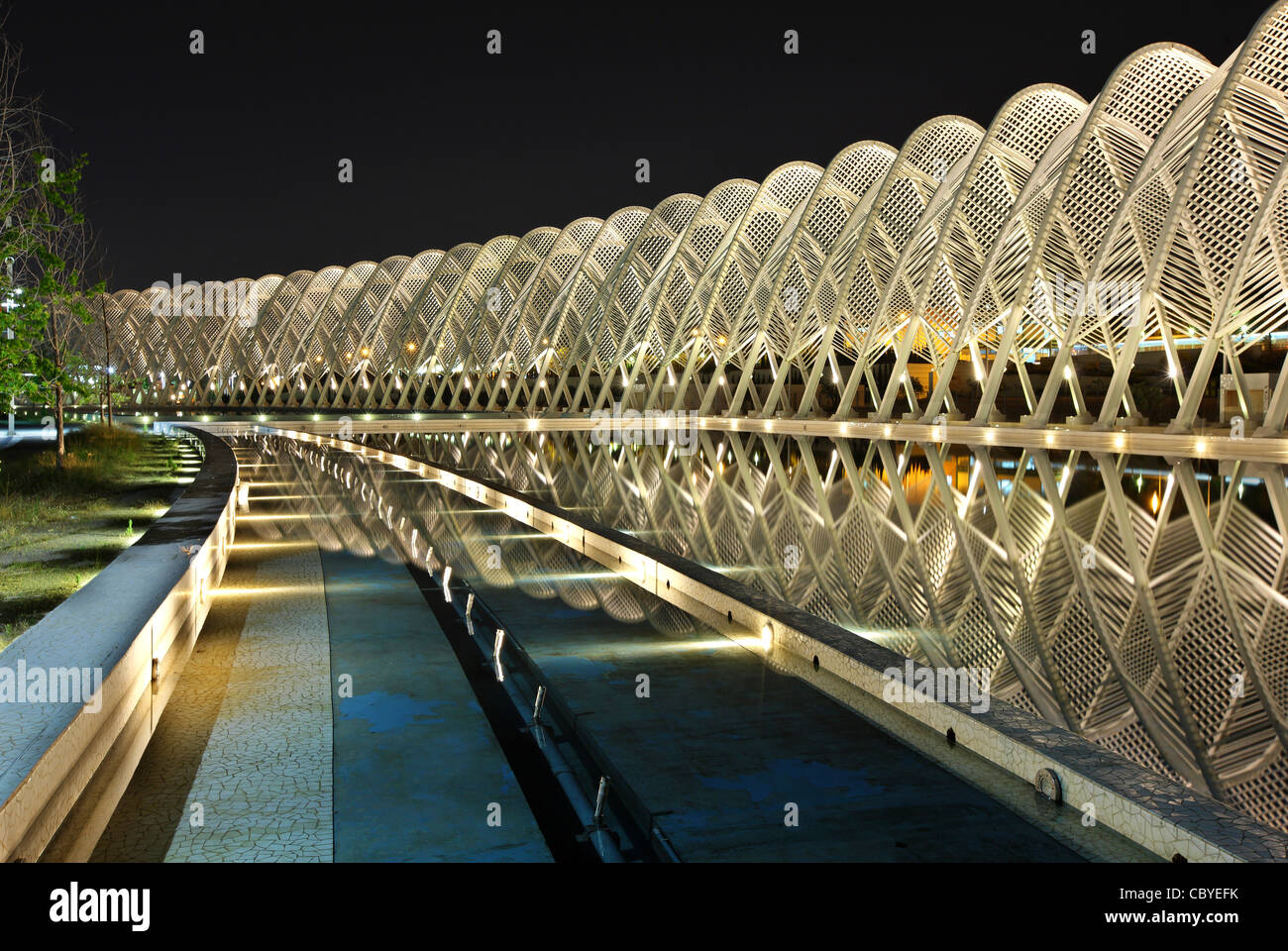 The 'Agora' at the Olympic complex of Athens, where the 2004 Olympic Games, took place. A work of Spanish - Stock Image