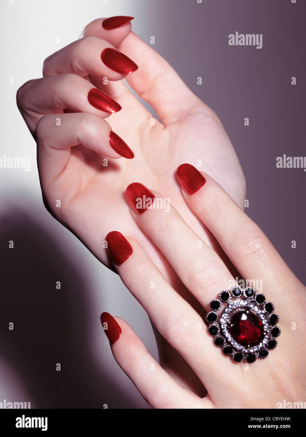 Shiny Nails Stock Photos & Shiny Nails Stock Images - Alamy