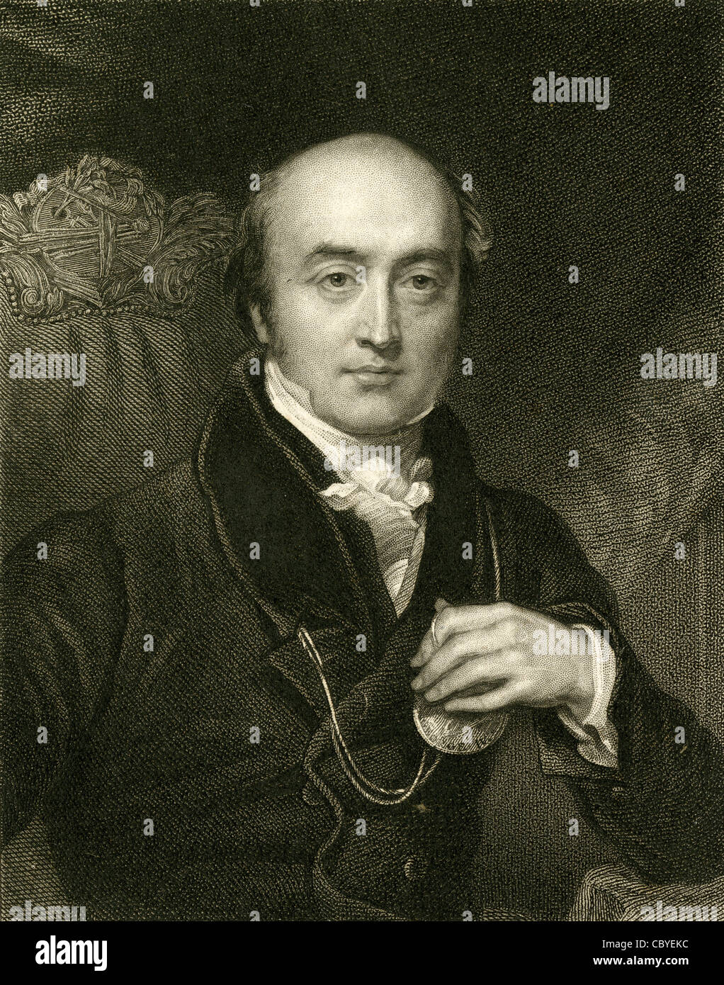 Circa 1830s engraving, Sir Thomas Lawrence. - Stock Image