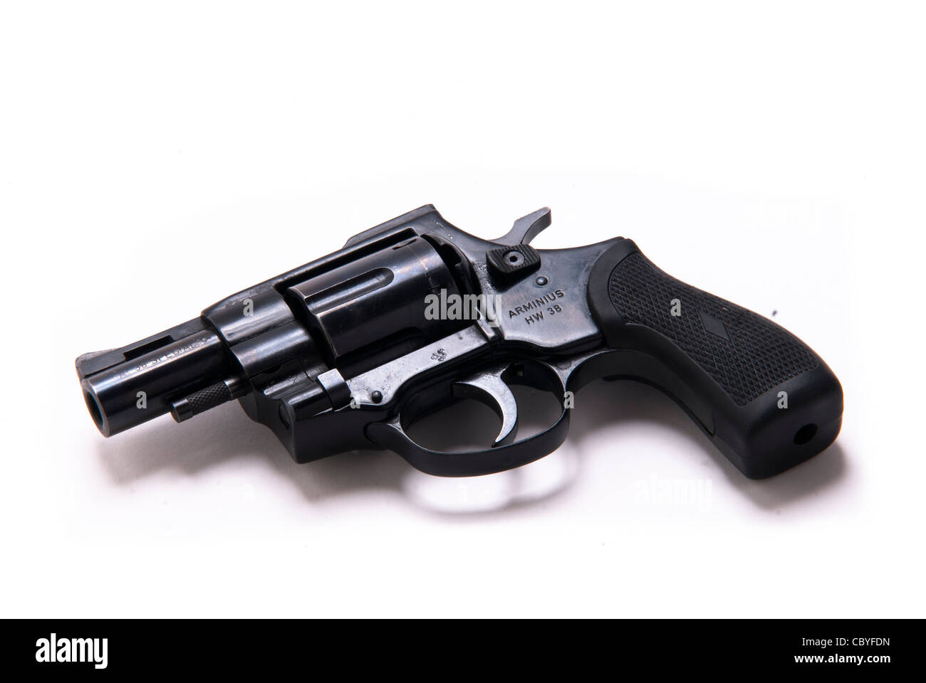close up of revolver on white background Stock Photo: 41786801 - Alamy