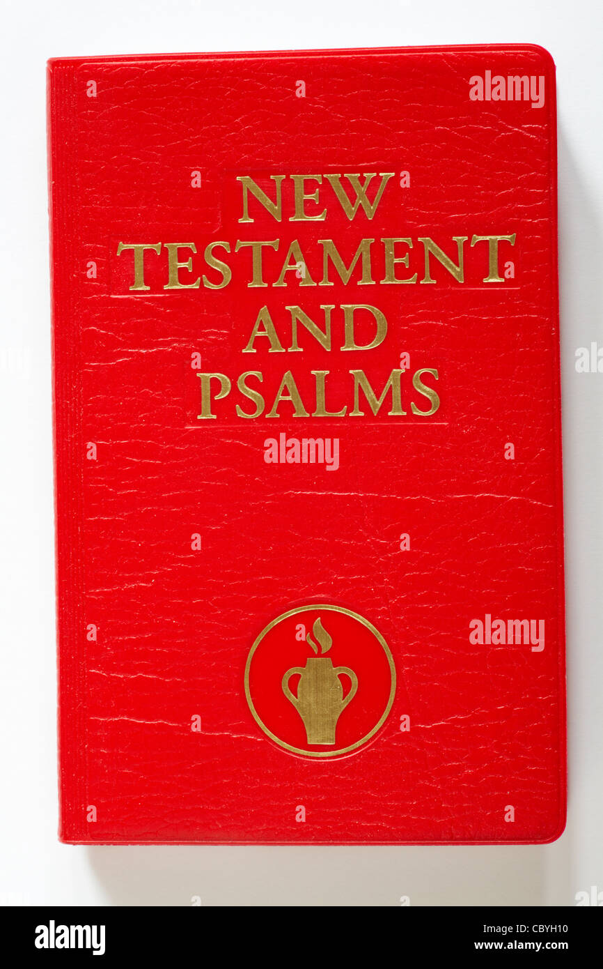 Little red book - New Testament and Psalms isolated on white background Stock Photo
