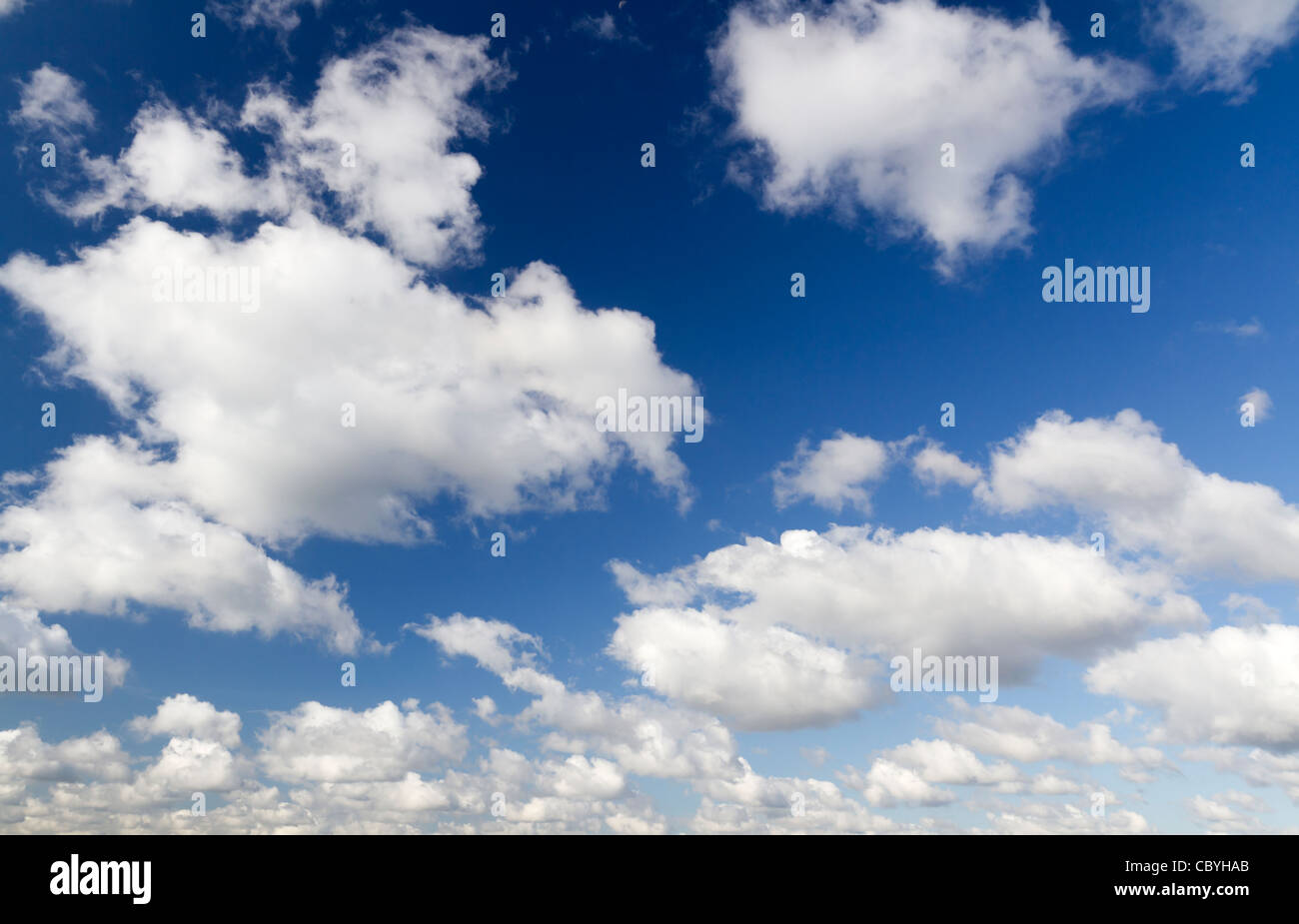 Clouds on a summers day - Stock Image