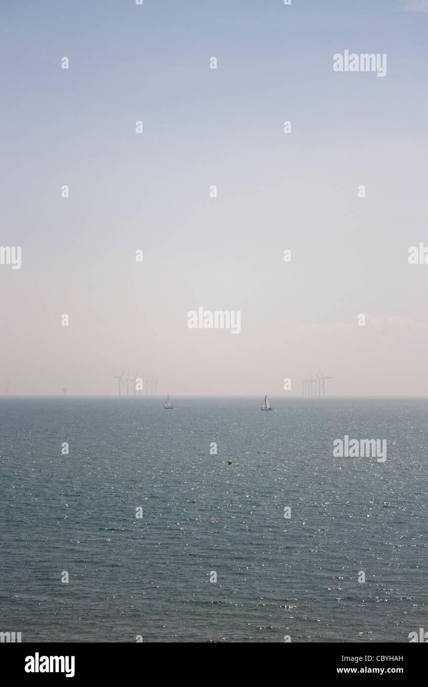 windfarm at clacton-on-sea - Stock Image