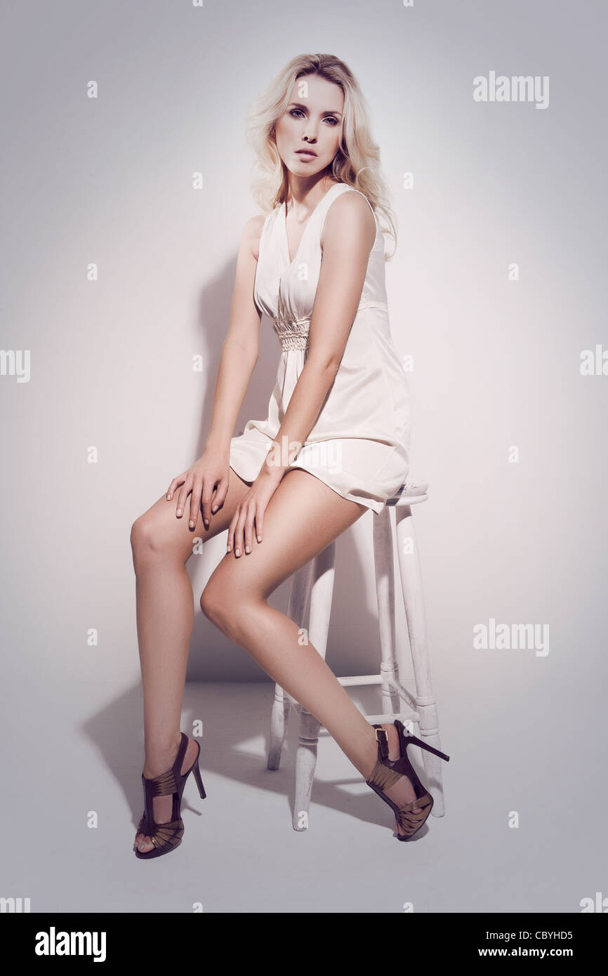 Agata Mazur fashion model image - Stock Image