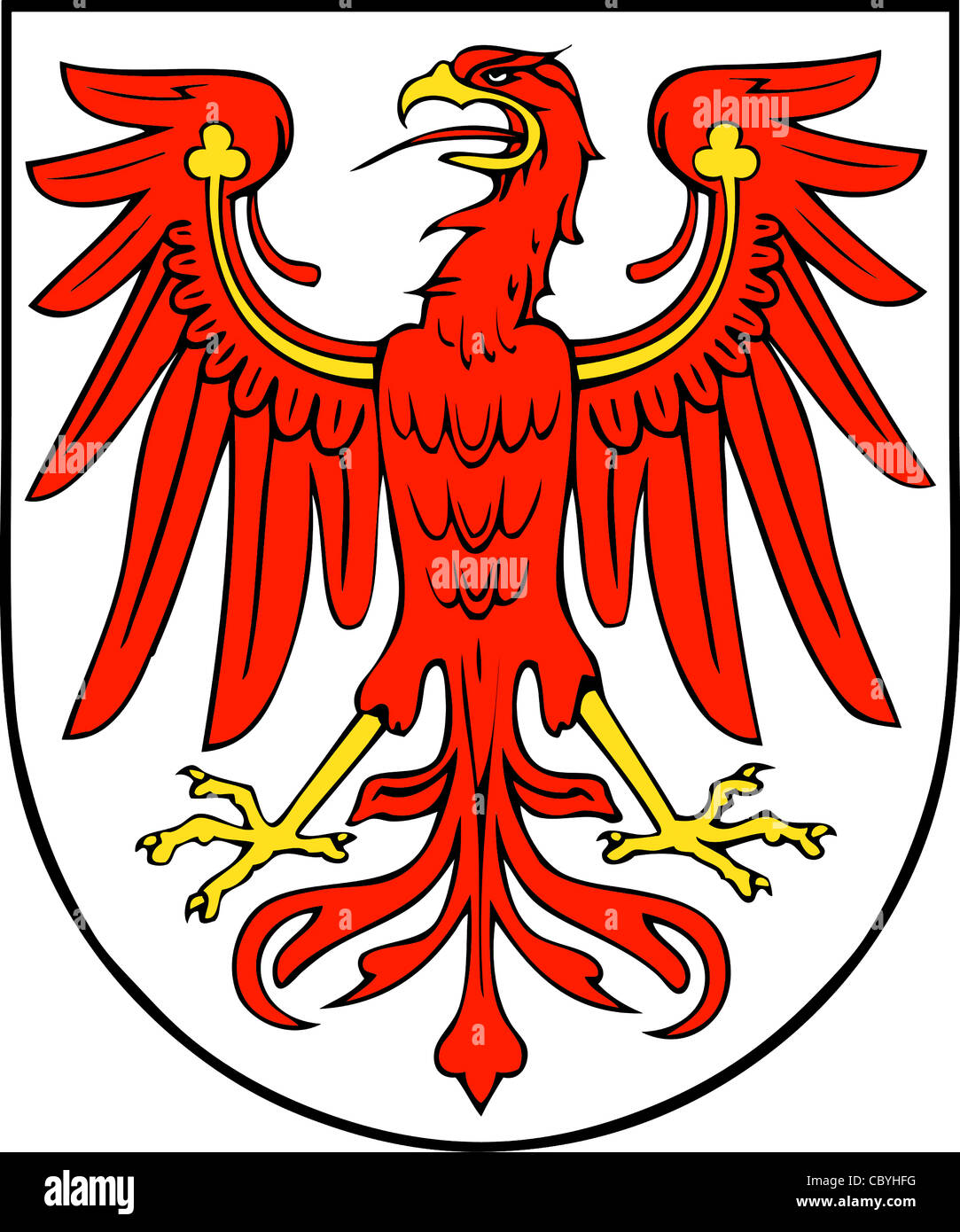 Coat of arms of the German federal state Brandenburg. - Stock Image