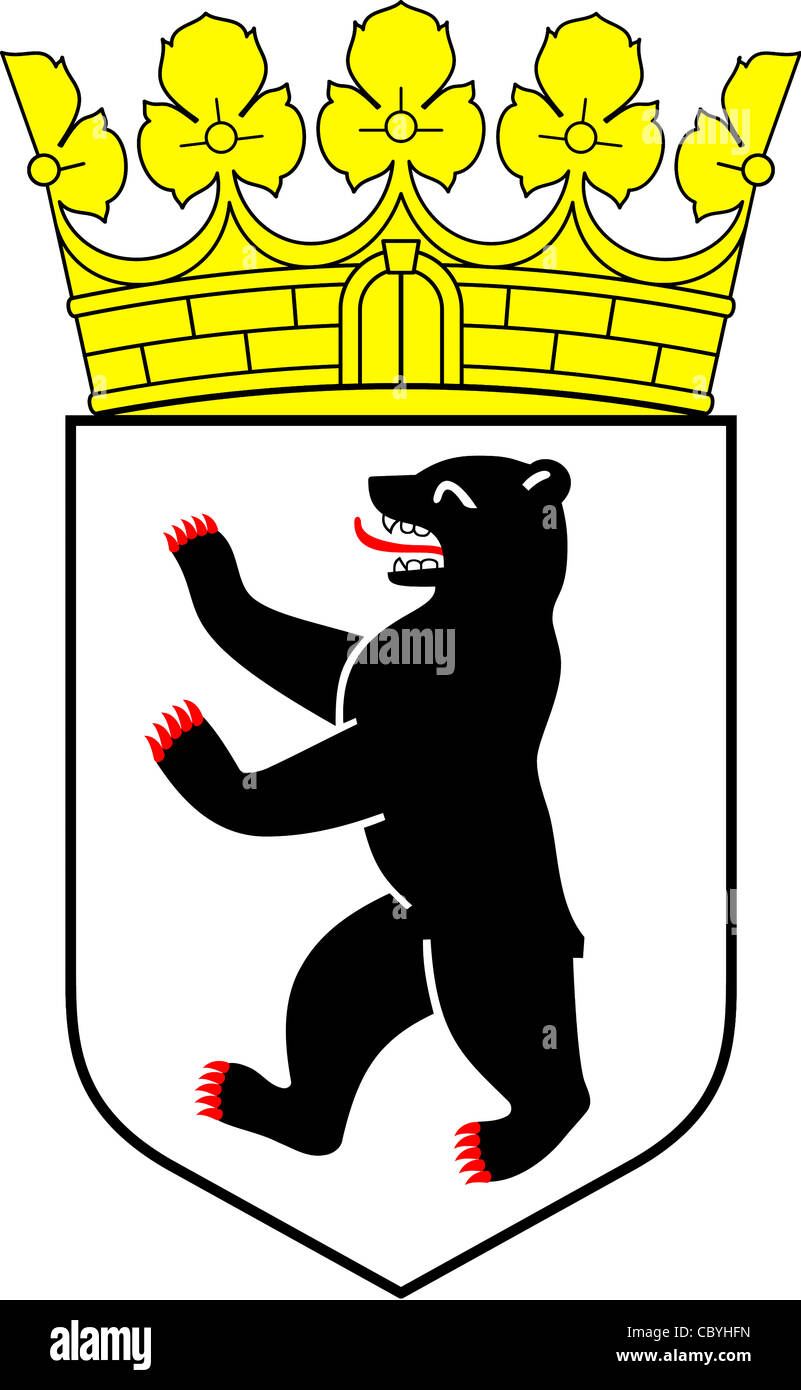 Coat of arms of the German federal state Berlin. - Stock Image