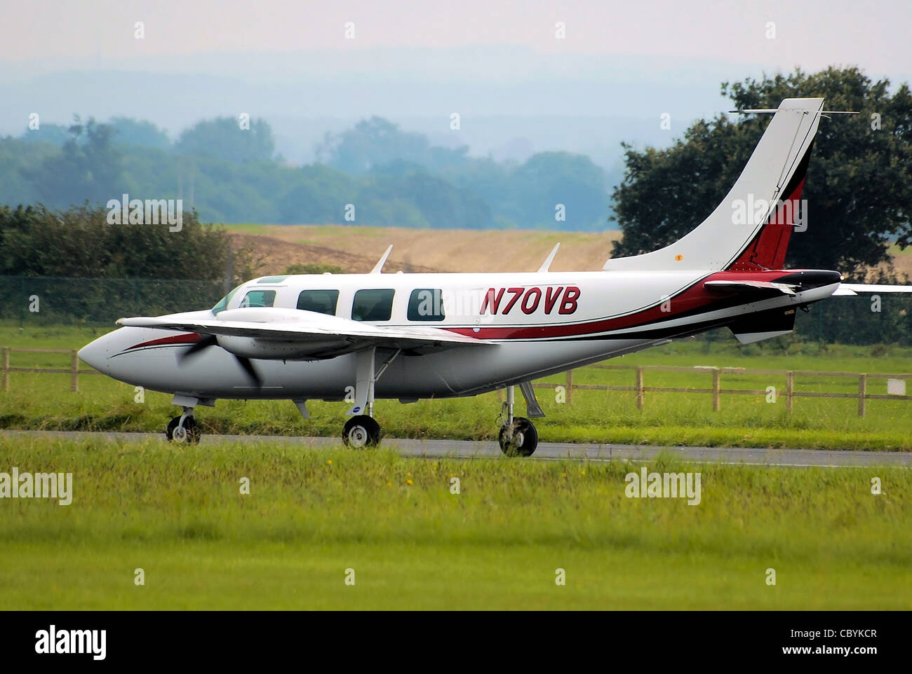 Piper PA-60-600 Aerostar (N70VB) at Kemble Airport 2008 Open Weekend, Gloucestershire, England - Stock Image