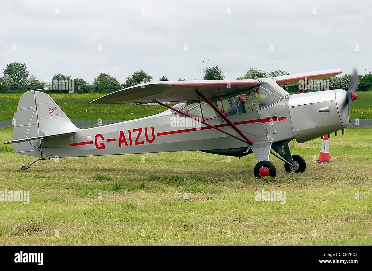 Auster 5J1 Autocrat of 1946 (UK registration G-AIZU) at Keevil Airfield, Wiltshire, England. - Stock Image