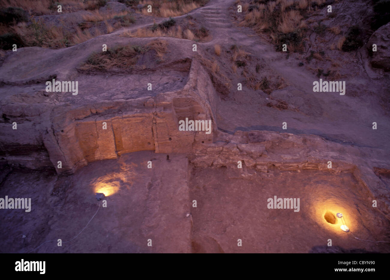 Çatalhöyük first neolithic settlement Çumra Turkey - Stock Image