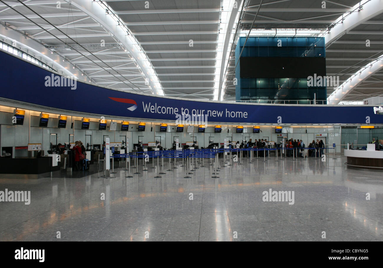 Terminal 5 at London Heathrow Airport - Stock Image