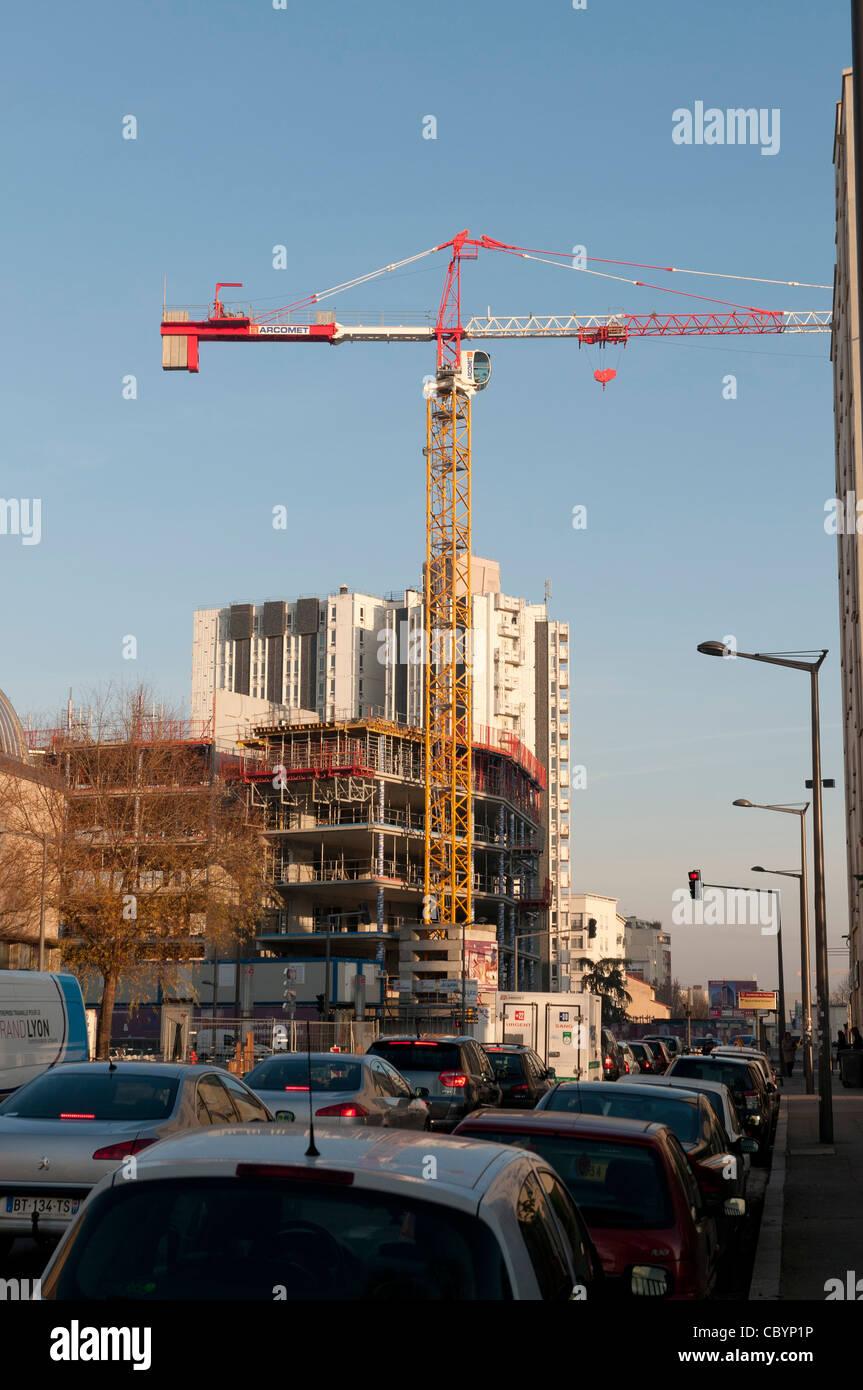 construction btp d'un immeuble  construction of a building Stock Photo