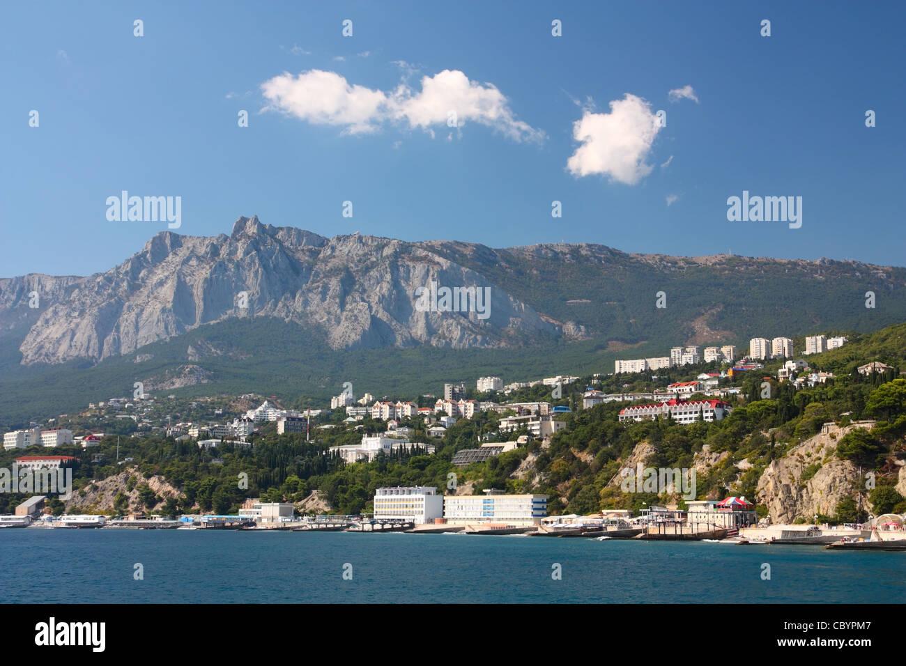 Crimea. Village Mishor, at the foot of Mount Ai-Petri - Stock Image