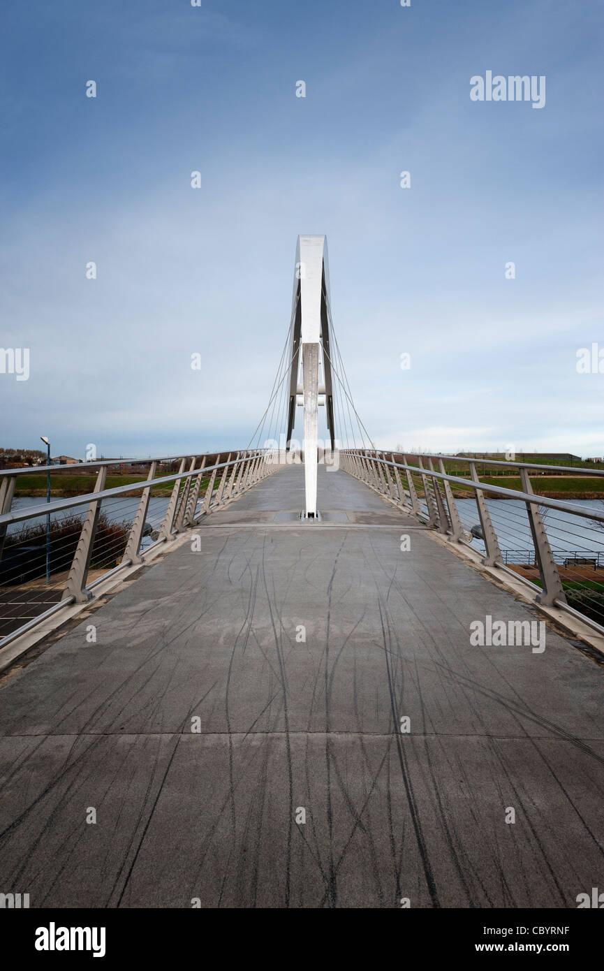 Teeside Infinity Bridge - Stock Image
