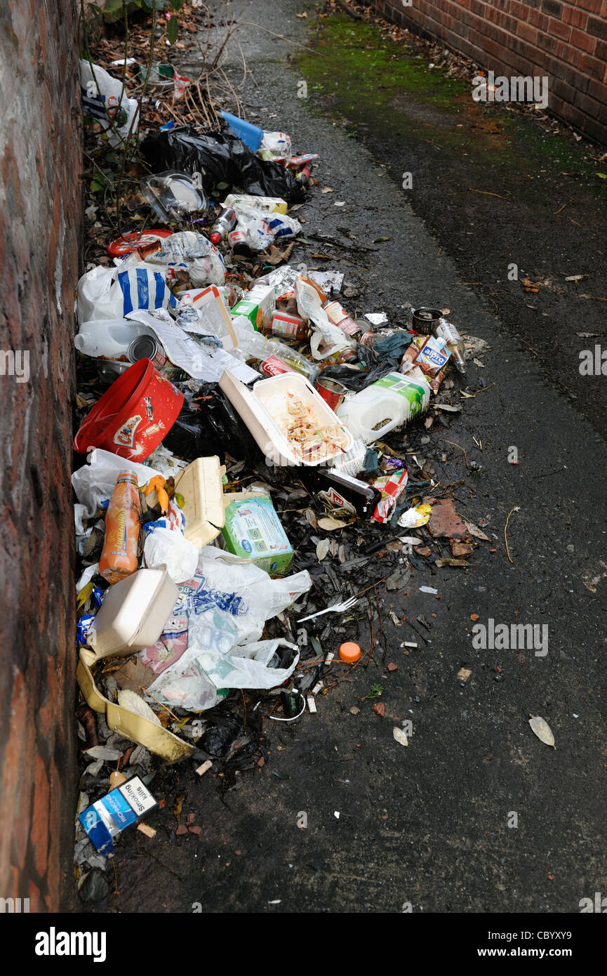 Litter and rubbish - Stock Image
