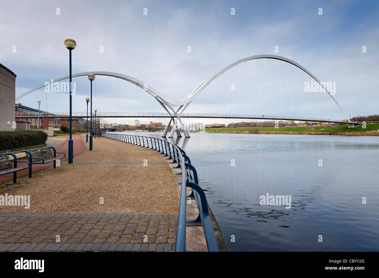 Teeside Infinity Bridge Stock Photo