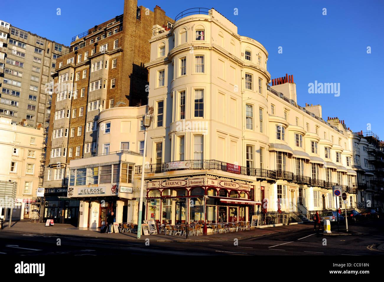 The Regency And Melrose Fish Restaurants On Brighton Seafront Uk