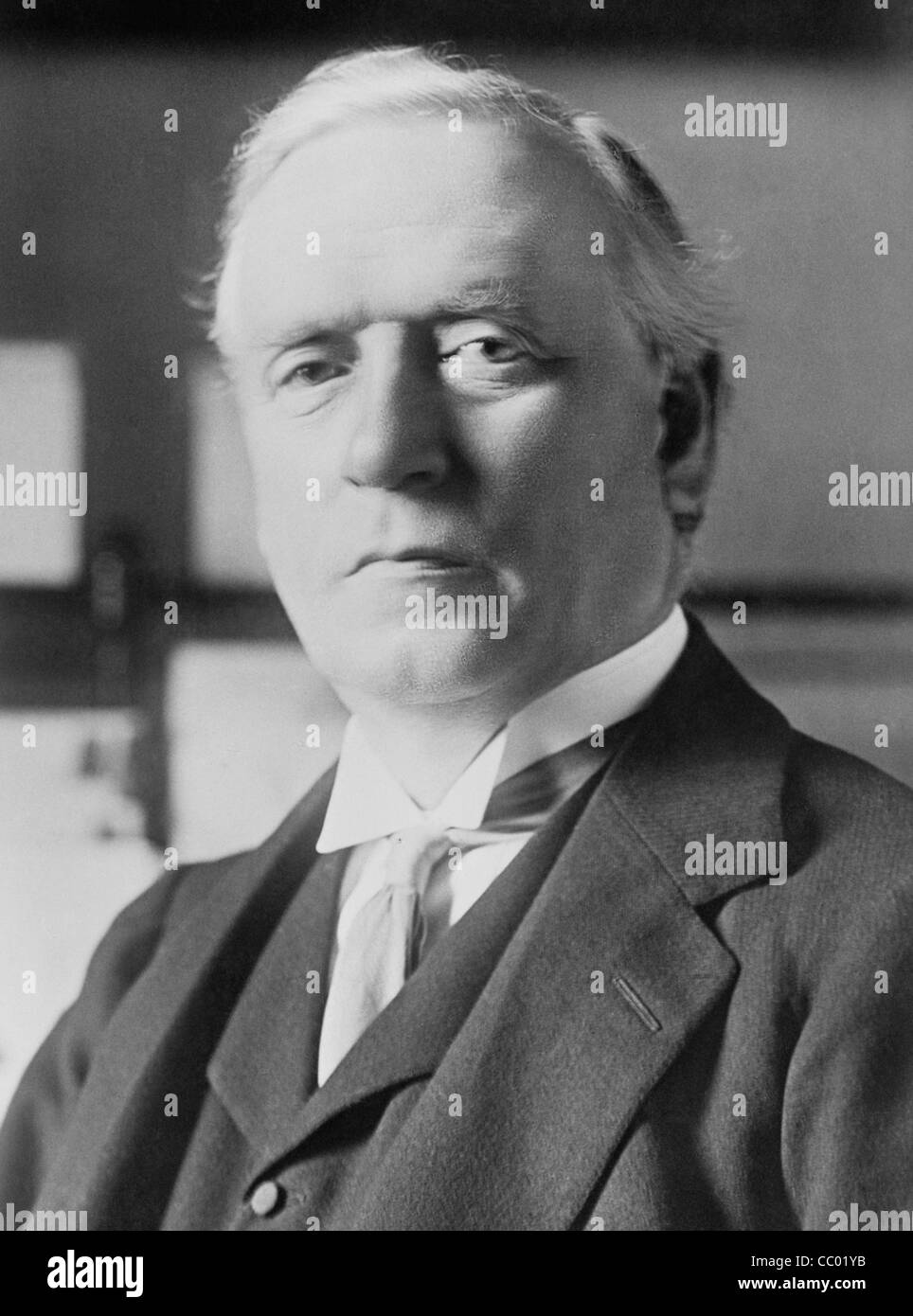 Vintage portrait photo circa 1914 of British politician Herbert Henry Asquith (1852 - 1928) - Liberal Prime Minister - Stock Image