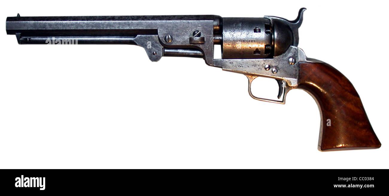 Colt Navy 51 pistol - Stock Image