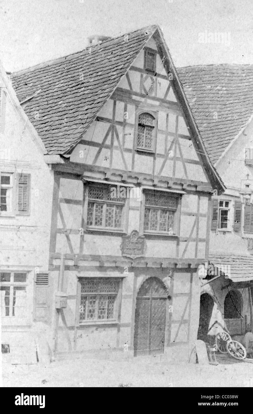 Birthplace of German dramatist Friedrich Schiller in Marbach am Neckar - Stock Image