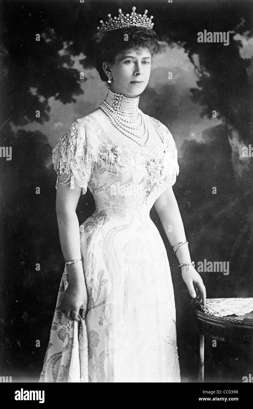 Mary, H.R.H. Queen of England 1914 - Stock Image