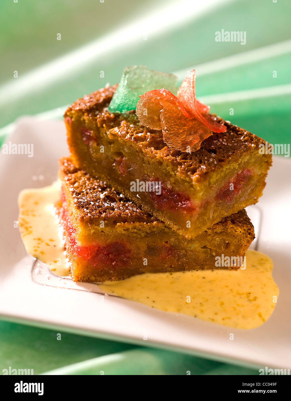 Gingerbread Pudding - Stock Image