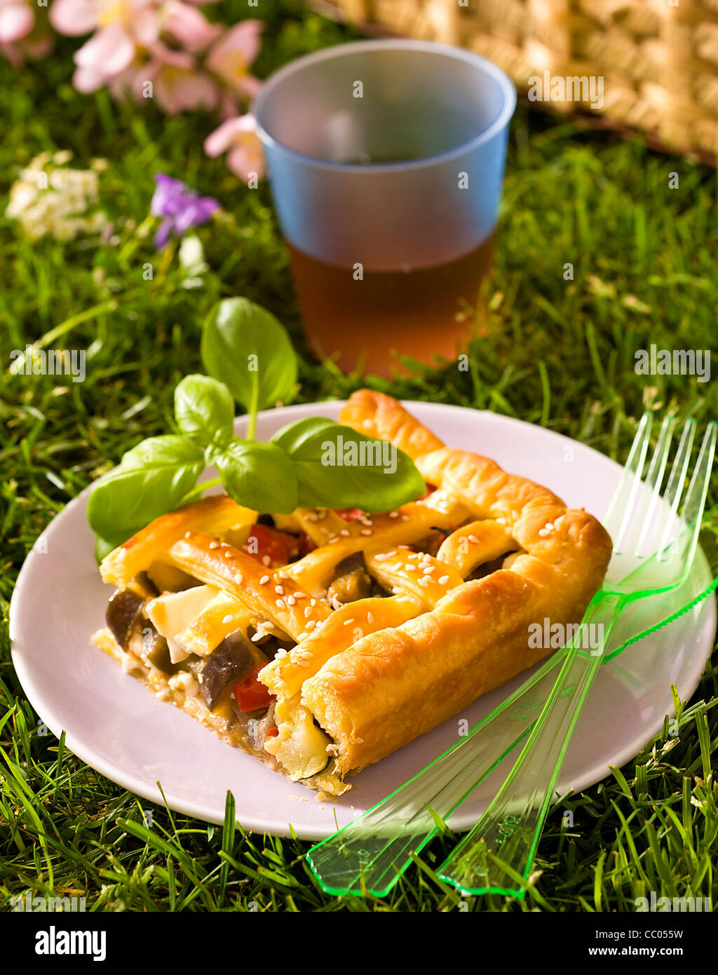 Summer Vegetable Pie - Stock Image