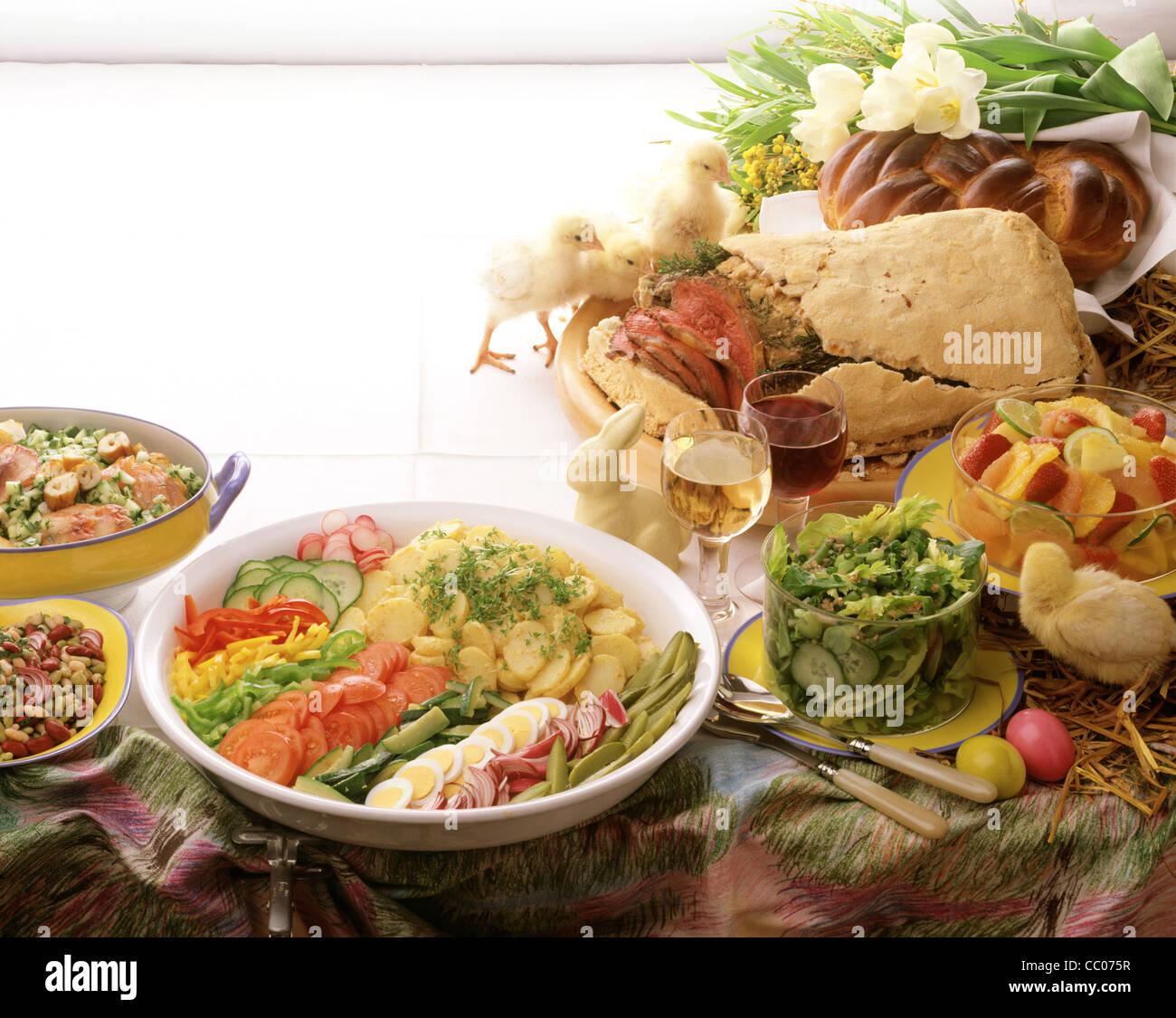 Awe Inspiring Easter Buffet Smoked Fish Salad Bean Salad Roast Beef Interior Design Ideas Lukepblogthenellocom
