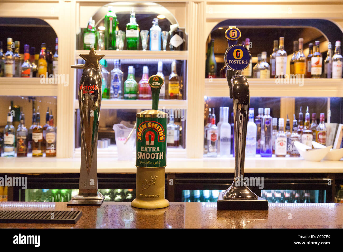 John Smith's Extra Smooth beer pump in pub in UK - Stock Image