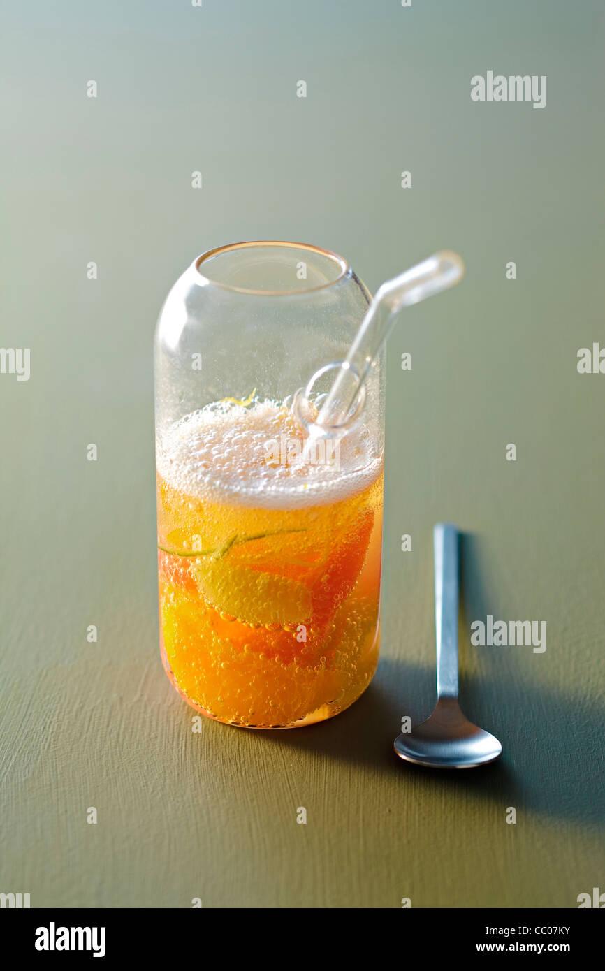 Citrus Fruit Soup - Stock Image