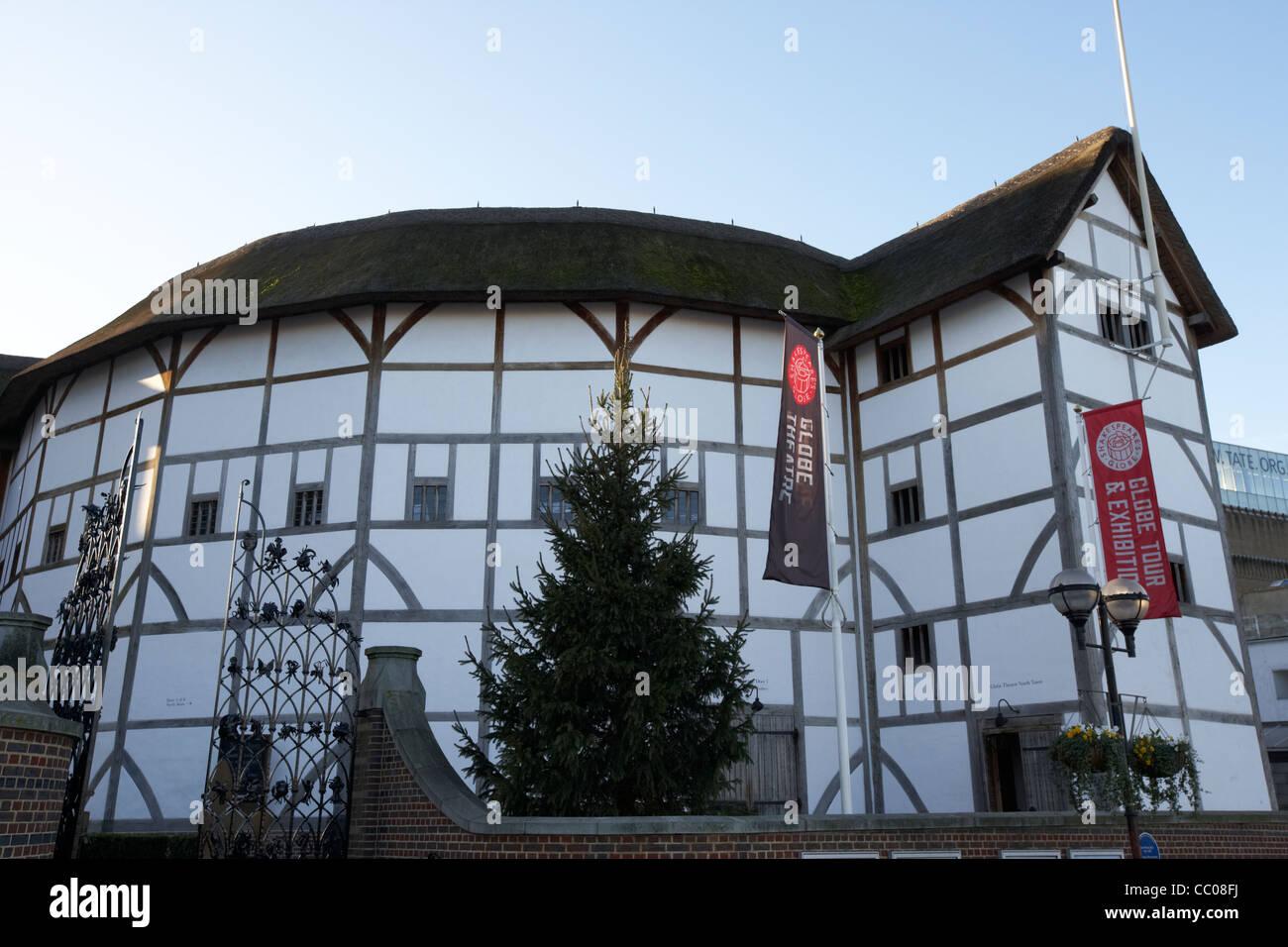 shakespeares globe theatre London England UK United kingdom - Stock Image
