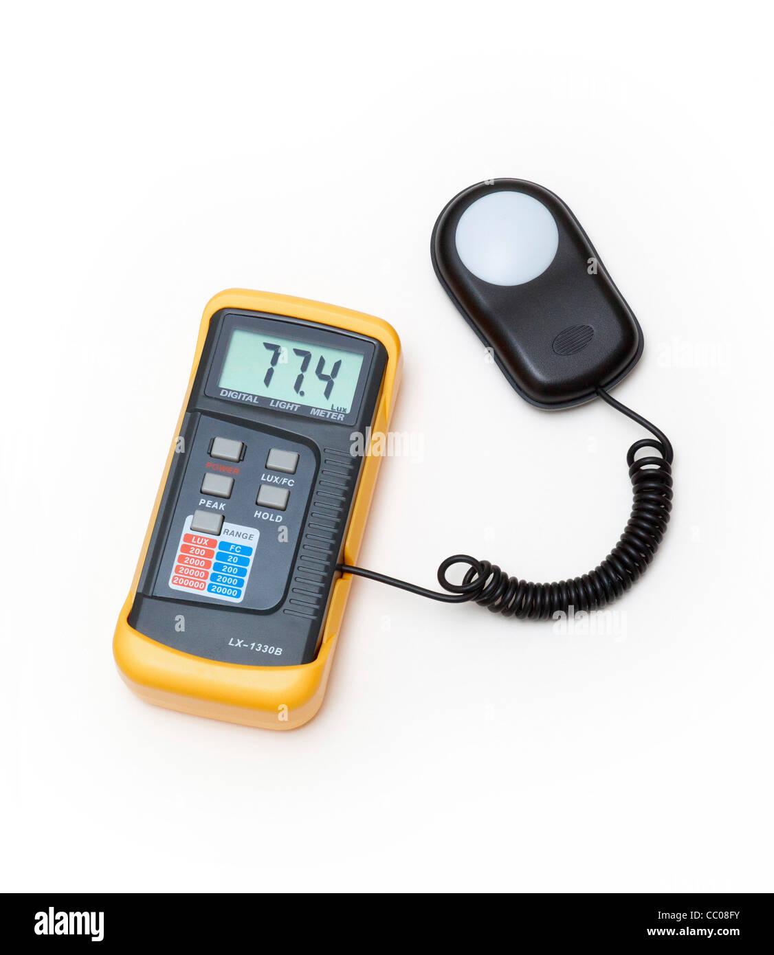 digital light meter - Stock Image