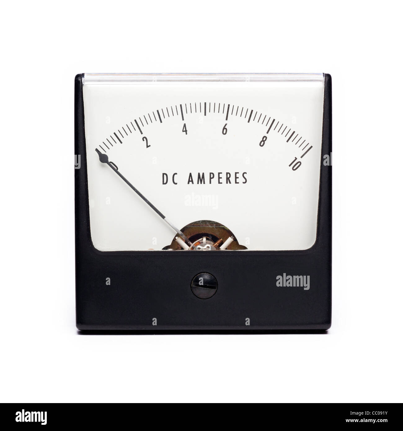 ammeter measuring amps - Stock Image