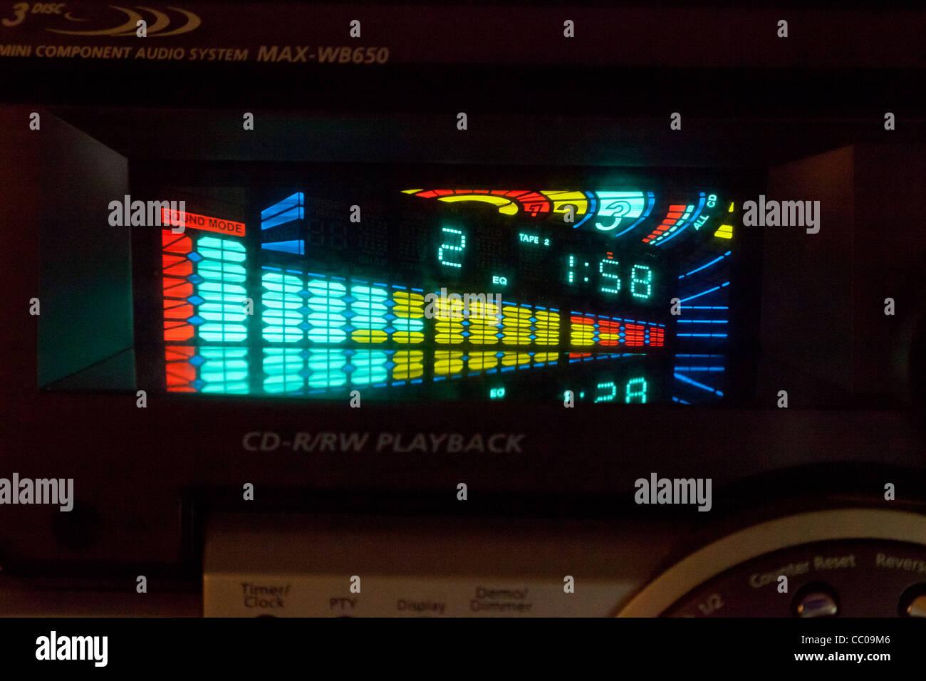 colour phosphorescent display - Stock Image