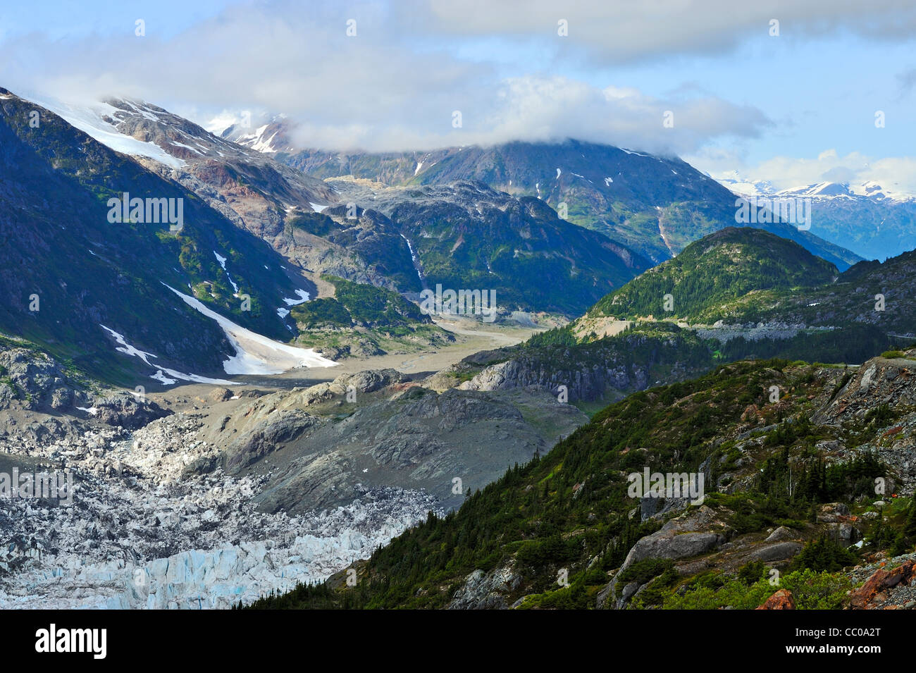 A British Columbia landscape of the rugged terrain of the coastal mountains. - Stock Image