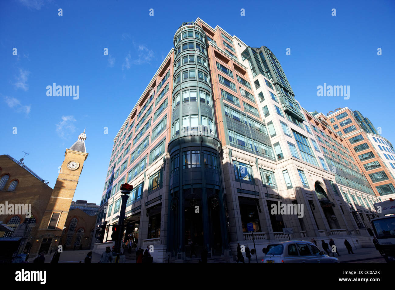 bishopsgate arcade building broadgate estate London England UK United kingdom - Stock Image