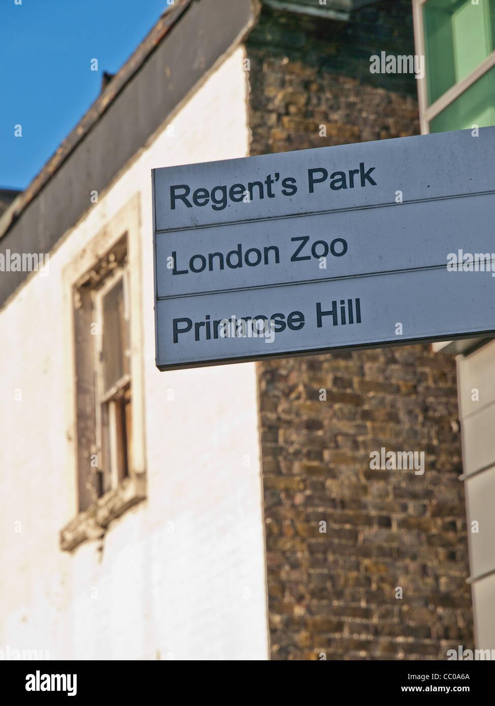 Primrose Hill Sign - Stock Image