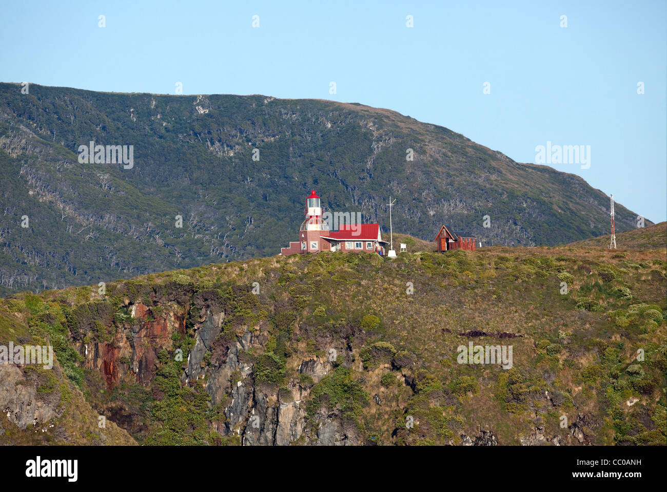 Cape Horn Lighthouse in southern Chile. - Stock Image