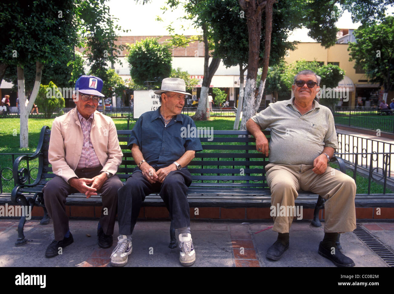 Three old mature men