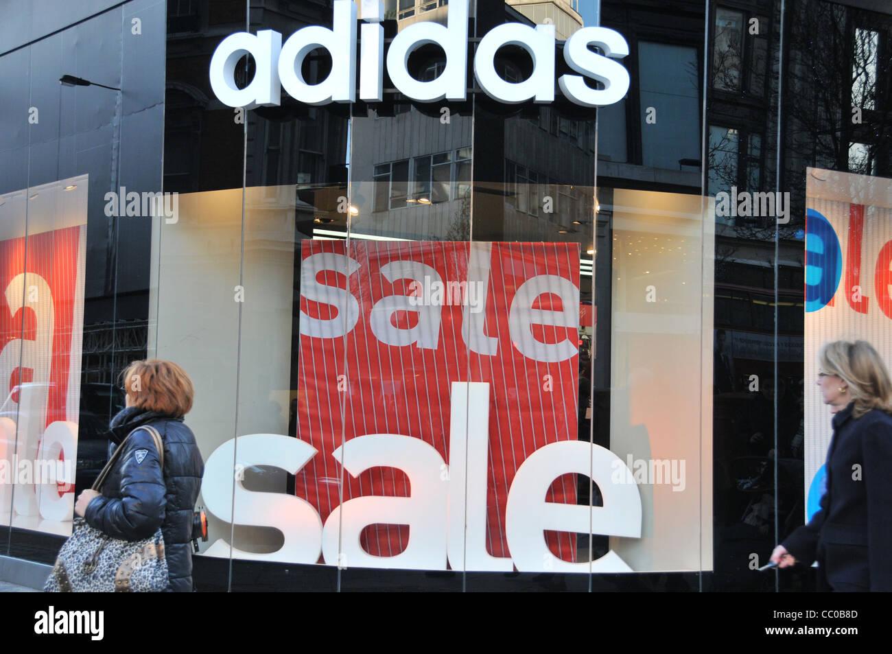Adidas January Sales London Retail sales sale signs Oxford street London  2012 c0e133043